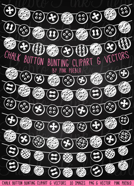 Chalkboard Button Bunting Clipart and Vectors