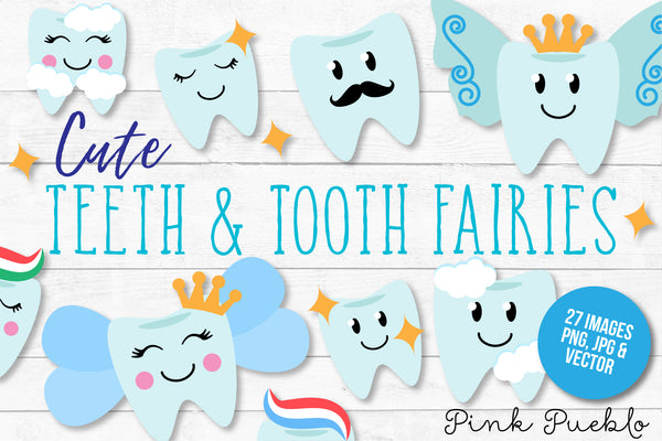 Tooth Fairy Clipart and Vectors - PinkPueblo