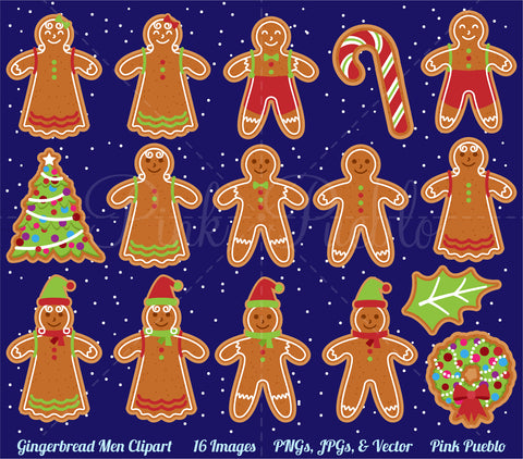Gingerbread Man Clipart & Vectors - PinkPueblo