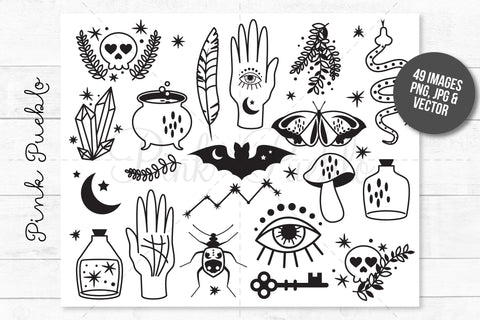 Magic and Occult Clipart and Vectors - PinkPueblo