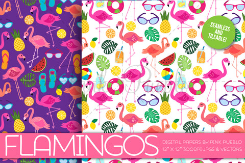 Flamingo Patterns and Backgrounds - PinkPueblo