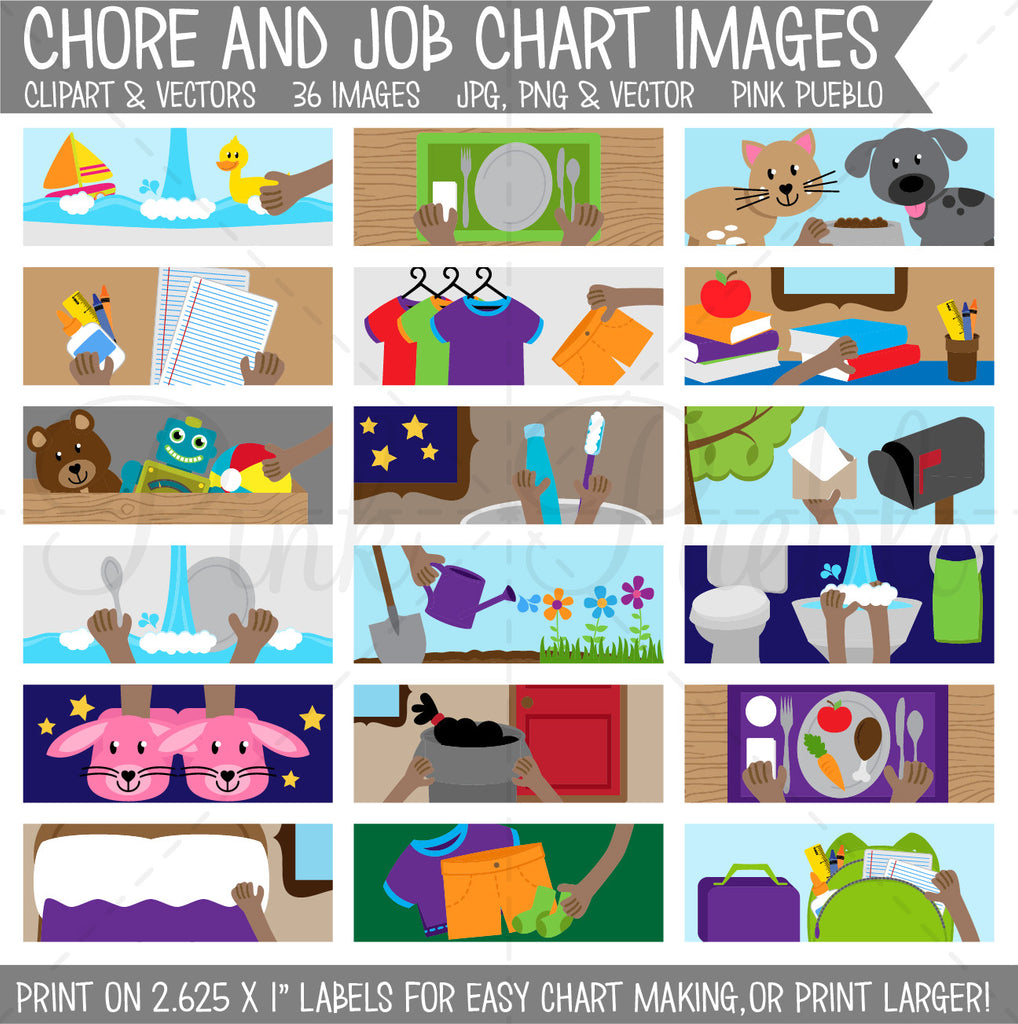graphic about Printable Chore Pictures referred to as Chore Chart Clipart, Printable Chore Chart for Children - Industrial and Unique Retain the services of