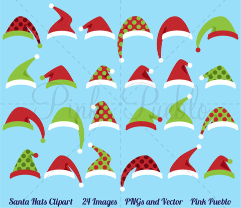 Santa Hat Clipart and Vectors - PinkPueblo