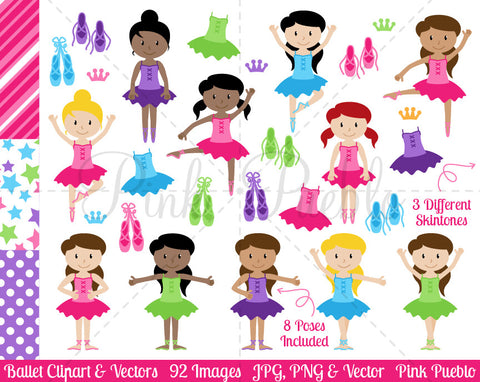 Ballet and Ballerina Clipart and Vectors