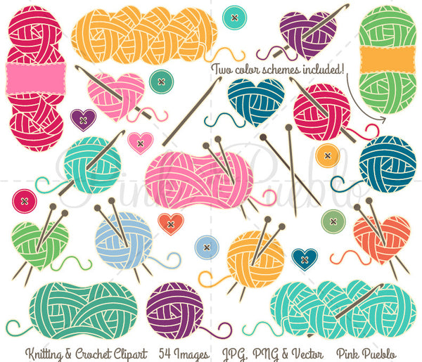 Knitting and Crochet Clipart & Vectors - PinkPueblo