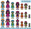 African American Superhero Stick Figure Clipart and Vectors