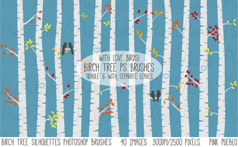 Birch Tree Photoshop Brushes - PinkPueblo