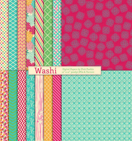 Washi Papers and Backgrounds - PinkPueblo