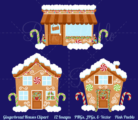 Gingerbread House Clipart & Vectors - PinkPueblo
