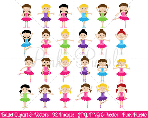 Ballet and Ballerina Clipart and Vectors - PinkPueblo