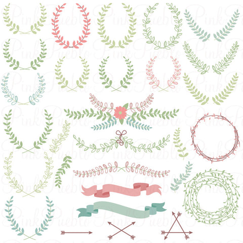 Laurel Clipart and Vectors - PinkPueblo