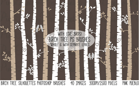 Birch Tree Photoshop Brushes