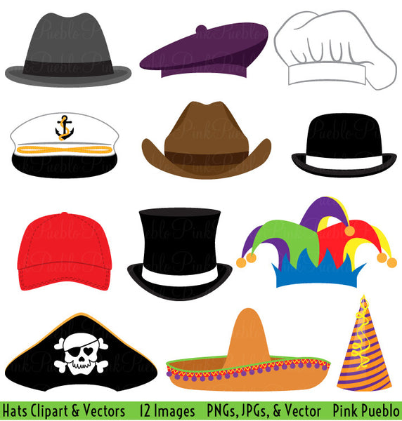 Hats Clipart and Vectors - PinkPueblo