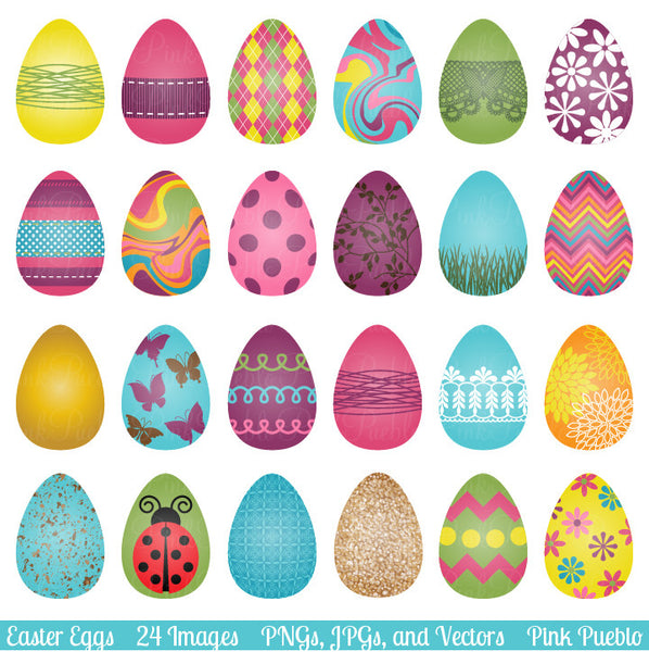 Easter Eggs Clipart and Vectors