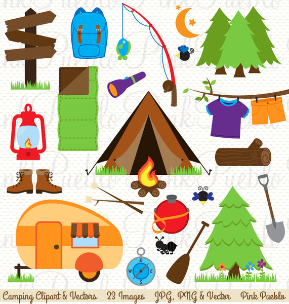 Camping Clipart and Vectors