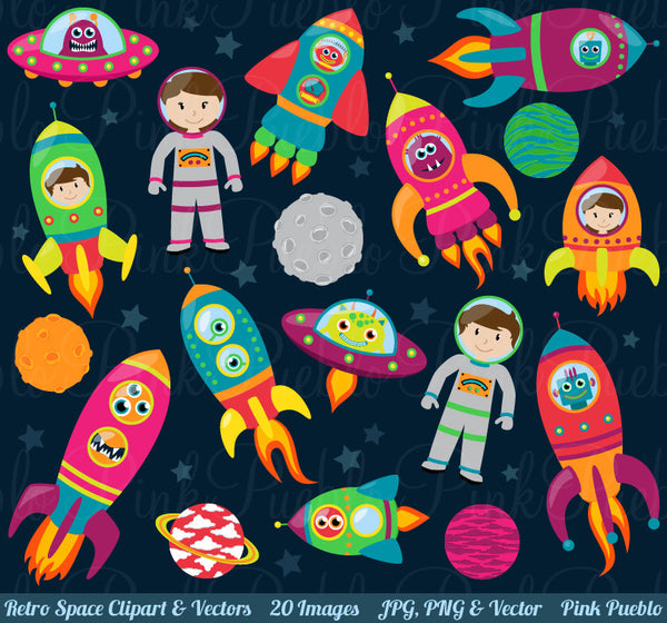 Space Astronaut Clipart and Vectors - PinkPueblo