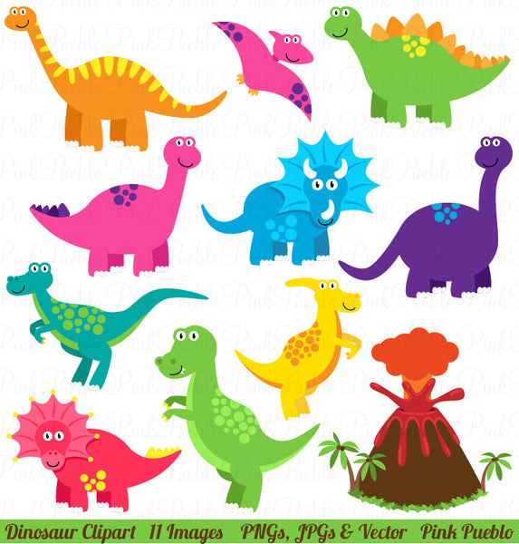 Dinosaur Clipart and Vectors - PinkPueblo