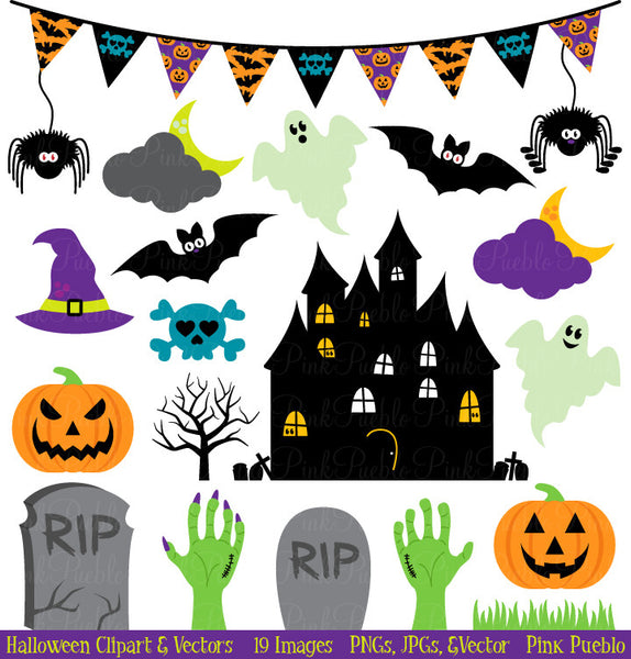 Halloween Clipart and Vectors - PinkPueblo
