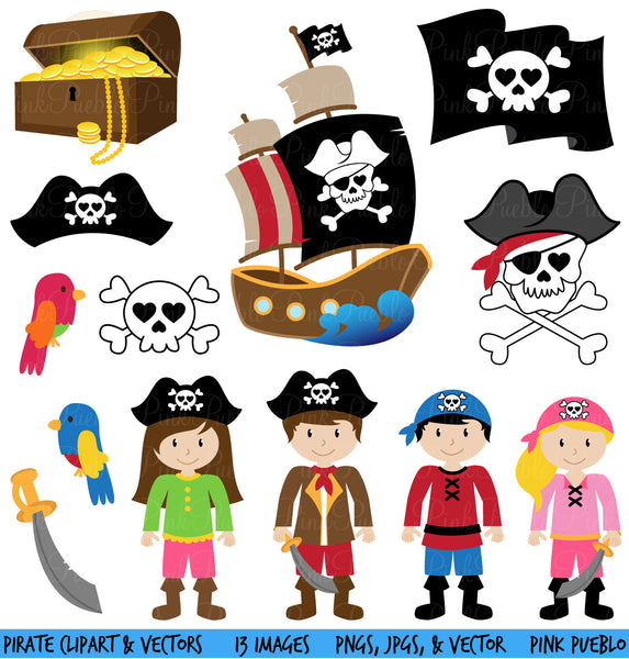Pirate Clipart and Vectors