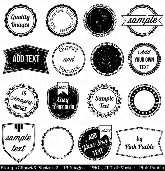 Stamps Clipart & Vectors