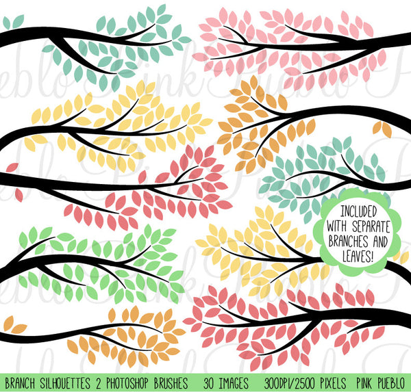 Tree Branch Photoshop Brushes - PinkPueblo