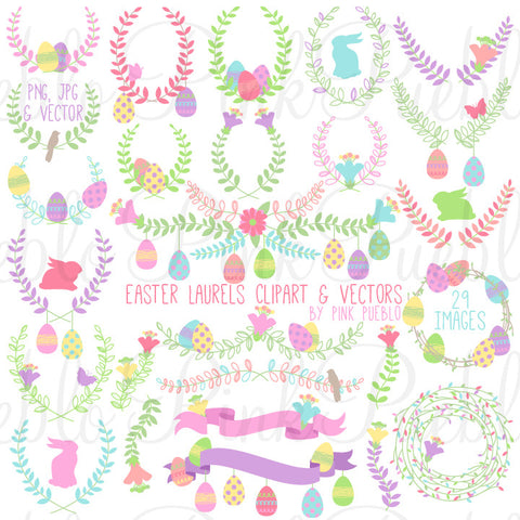 Easter Laurels Clipart and Vectors - PinkPueblo