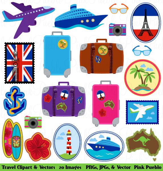 Travel Clipart and Vectors