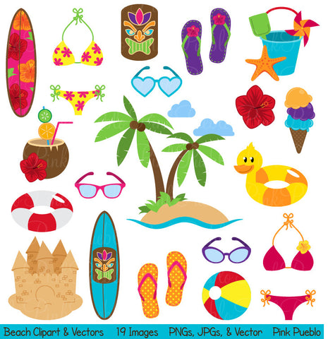 Beach Clipart and Vectors - PinkPueblo
