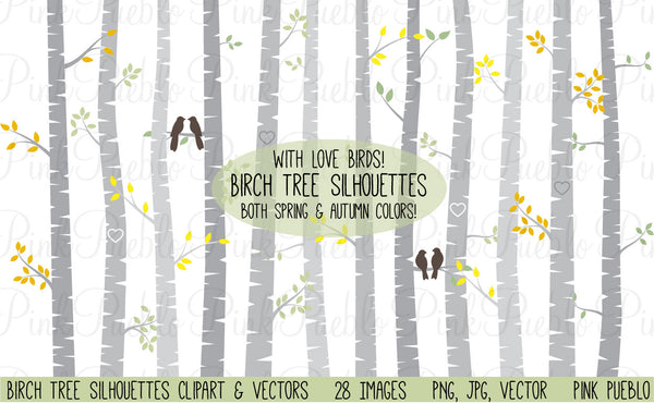 Birch Tree Clipart and Vectors