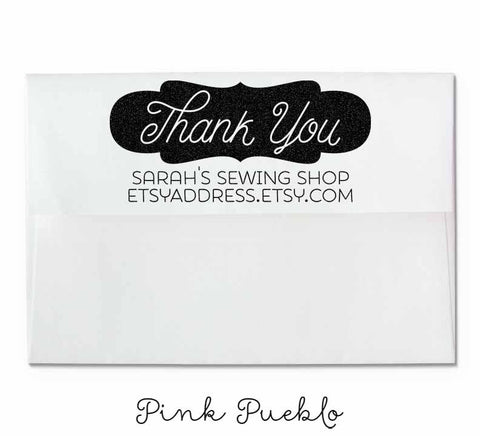 Personalized Thank You Rubber Stamp