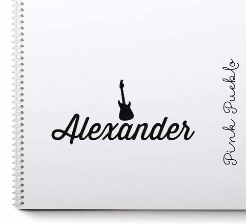 Personalized Guitar Name Stamp