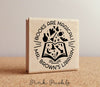 Personalized Teacher Book Stamp, Books are Magical Bookplate Stamp for Teachers - PinkPueblo