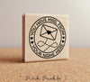 Mailing Stamp, Personalized Mail Stamp for Shipping, Product Packaging or Mailing Envelopes - PinkPueblo