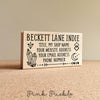 Personalized Business Boho Card Stamp, Custom Geometric Crystal Business Card Rubber Stamp - PinkPueblo