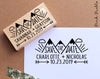 Save the Date Stamp with Mountain, Wedding Stamp, Destination Wedding Save the Date Stamp - PinkPueblo