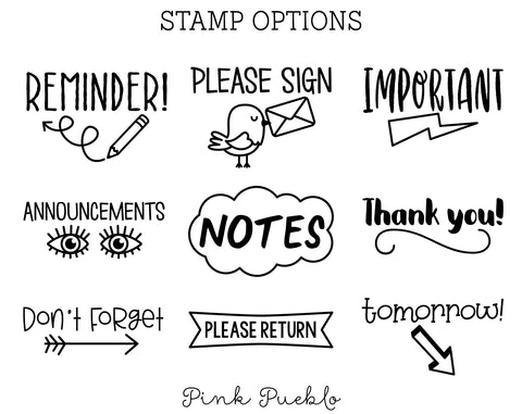 Teacher Stamps for Parent Communication, Teacher Stamps for Grading, Teacher Stamp Set - PinkPueblo