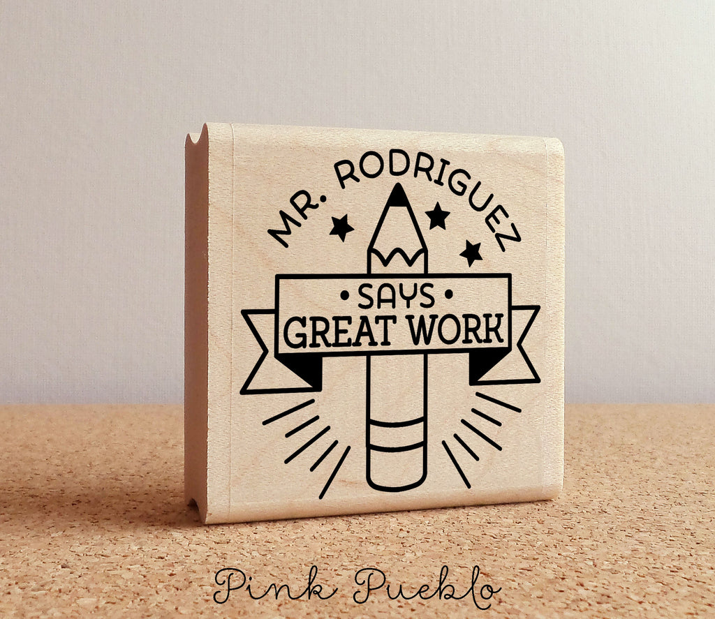 Personalized Teacher Stamp Teacher Gift Or Teacher Appreciation Gift Teacher Stamp For Grading
