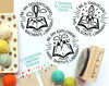 Personalized Teacher Library Stamp, Teacher Book Stamp, Classroom Book Stamp - PinkPueblo