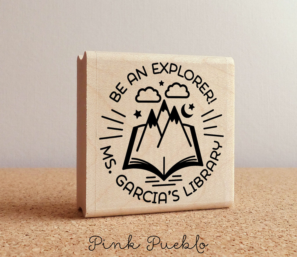 Personalized Teacher Library Stamp Book Classroom
