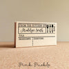 Personalized Recipe Card Stamp, For 3x5, 4x6, 5x7 and 4.25x5.5 Recipe Cards, DIY Recipe Cards