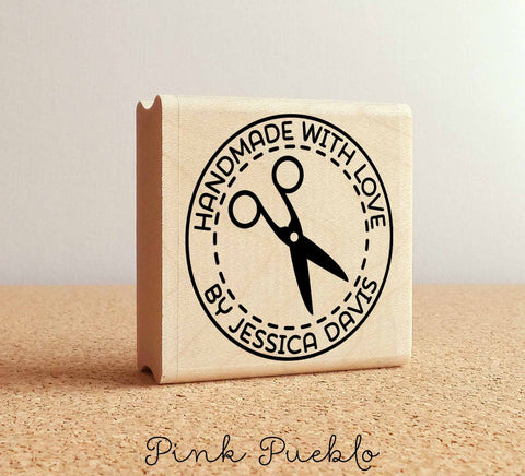 Personalized Handmade with Love Stamp - PinkPueblo