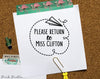 Self Inking Teacher Stamp, Self Inking Sign and Return Stamp for Teachers - PinkPueblo