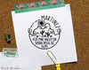 Desert Themed Self Inking Return Address Stamp, Round Self Inking Return Address Stamp with Desert and Cactus - PinkPueblo