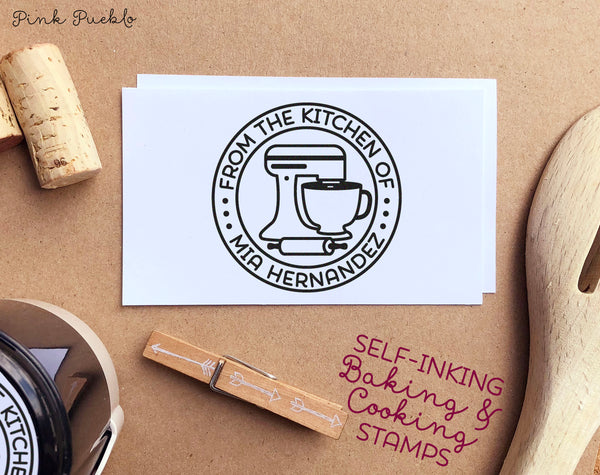 Self-Inking From the Kitchen Of Stamp, Personalized Baking or Cooking Stamp, Baking Gift - PinkPueblo