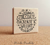 Save the Date Stamp, Rustic or Vintage Wedding Stamp with Stars