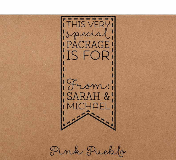 Personalized Gift Tag Rubber Stamp, Custom Product Label Stamp