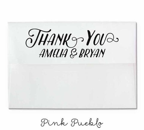 Personalized Thank You Rubber Stamp - PinkPueblo
