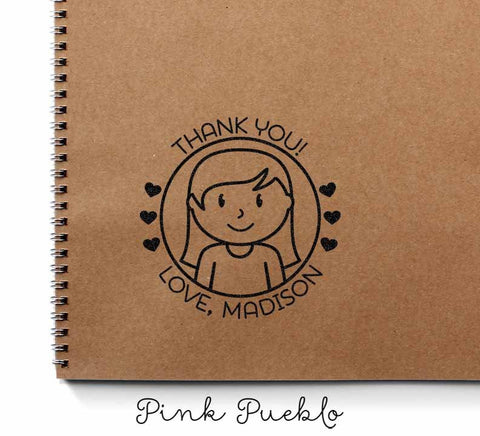 Personalized Children's Thank You Stamp - PinkPueblo