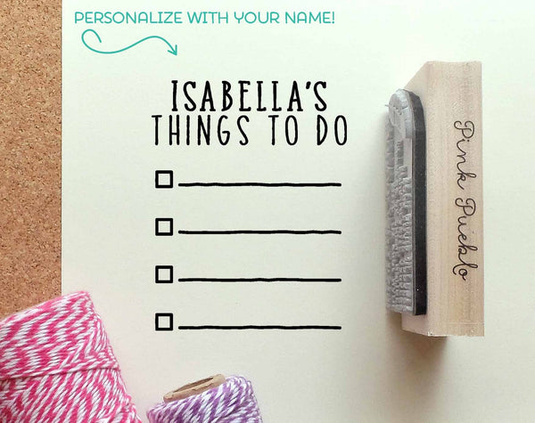 Personalized Planner Stamp, Personalized To Do List Rubber Stamp - PinkPueblo