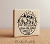 Mountain Wedding Save the Date Stamp, Destination Wedding Save the Date Stamp - PinkPueblo